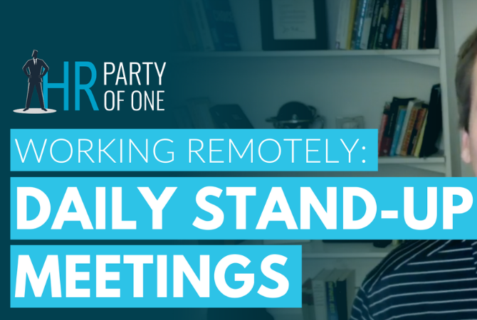 Working Remotely: Daily Stand-Up Meetings
