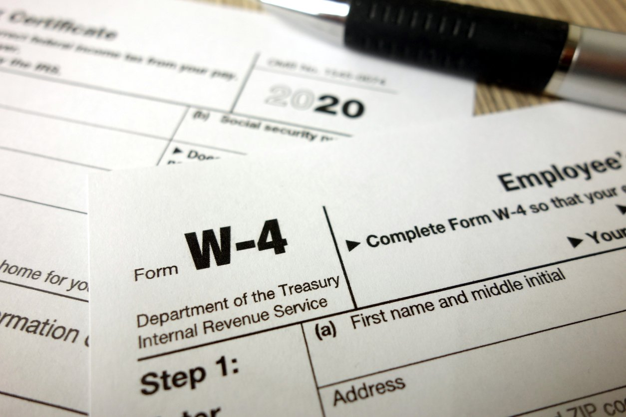 IRS Issues New Form W-4 for 2021 Employee Tax Withholdings